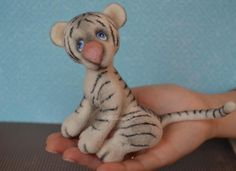OOAK Needle Felted Albi Tiger Teddy Bear project on Craftsy.com
