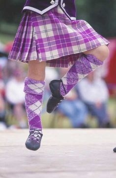 Kilt from the waist down #MacPherson #Purple #Tartan