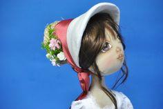 Muñeca personalizada , hecha a mano . inspirada en Jane Austen.