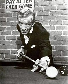 "Fred Astaire—Owner of four Brunswick tables located in the basement of his home, the so-called, ""Pool Wizard,"" had a very likeable personality and enjoyed playing the game with just about anybody."