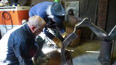 Egbert J. Bos creates a metal welding sculpture: Our Time
