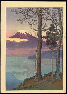 Koitsu, Tsuchiya (1870-1949) - Lake Yamanaka - 山中湖 土屋 光逸(つちや こういつ、明治3年8月28日〈1870年9月23日〉 - 昭和24年〈1949年〉11月13日)は、明治時代から昭和時代にかけての浮世絵師