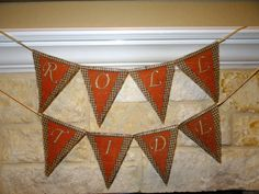 Roll Tide Football Party Personalized Banner by TheCraftyAggie, $25.00  #AlabamaUniversity #RollTide #Football Party #Burlap #Banner