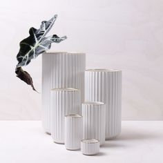 The Lyngby Deluxe Edition is perfect for simple sculptural flowers. Combine several vases for an interesting composition.