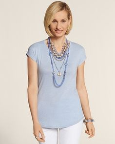 Chico's Shimmer Shirttail Tee #chicos