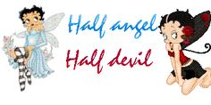 Half Angel Half Devil Betty Boop Graphic