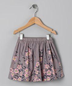 Gray Miko Skirt - Toddler & Girls