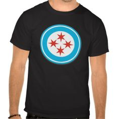 Captain Chicago shield shirts from Saytoons on Zazzle #chicago