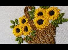Hand Embroidery Designs for Baby Clothes | Flower Basket | HandiWorks #47 - YouTube