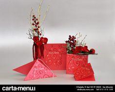 Colección Rojo de decoración para #Restaurantes #Navidad