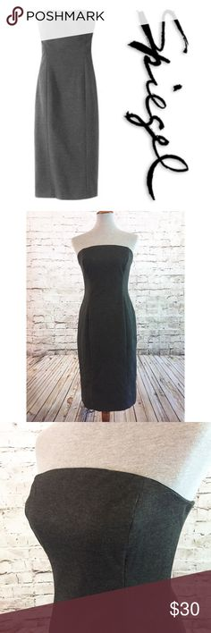 "Spiegel NWT Strapless Dress Charcoal Gray Size 10 NWT Strapless Dress from Spiegel. Dark Charcoal Gray. Hidden back zipper. Approximately 15"" Across Bust, 34"" Long. Boning in the sides of the bust. Fully Lined. Size 10 from Spiegel 30920170 Spiegel Dresses Strapless"
