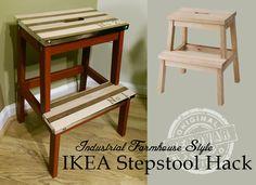 Industrial Farmhouse Style IKEA stepstool