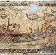 A Nilotic scene on one of the mosaics from the Villa Nile. National Archaeological Museum, Tripoli (Libya). Photo Marco Prins.