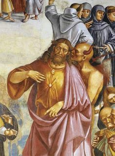 Photograph:Satan directs the Antichrist in a scene painted by Luca Signorelli for a fresco, The Deeds of the Antichrist, in about 1505. The fresco is in the Duomo in Orvieto, Italy.