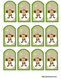 Image detail for -Free Printable Jungle (Safari) themed baby Shower Favor Tags