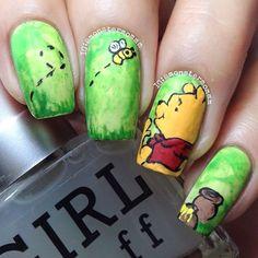 Instagram media monstermommm - pooh #nail #nails #nailart