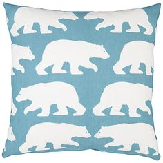 Buy Anorak Kissing Bears Cushion, Cream/Blue online at JohnLewis.com - John Lewis