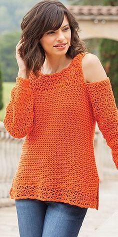 Crochet Shirt Ravelry: Summer Swag Tee pattern by Jill Hanratty - Blouse Au Crochet, Crochet Tunic Pattern, Gilet Crochet, Crochet Jumper, Black Crochet Dress, Knit Crochet, Crochet Patterns, Crochet Sweaters, Ravelry Crochet