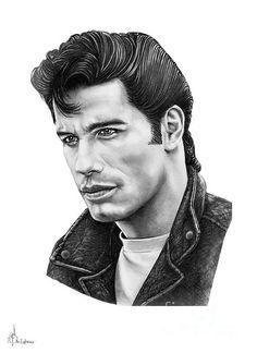 john travolta sketch (Grease)