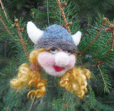 Nadel Gefilzte Viking Ornament Bournonvilles von WoodlandFelties