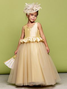 Lanting Bride ® Ball Gown Floor-length Flower Girl Dress - Taffeta / Tulle Sleeveless Jewel with - USD $69.99 ! HOT Product! A hot product at an incredible low price is now on sale! Come check it out along with other items like this. Get great discounts, earn Rewards and much more each time you shop with us!