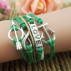 Latest Anchor Arrow Love Infinity Bracelet
