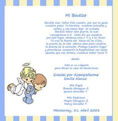 invitaciones de bautizo para nino | oraciones para bautizo dios ilumina mi oracion para bautizo de ...