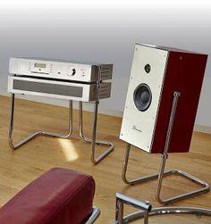 audio room audiophile loudspeaker Burmester PHASE 3 All-in-One Retro-Style Hifi Speakers, Hifi Audio, Equipment For Sale, Audio Equipment, Mc Intosh, Cd Player, Speaker Box Design, Audio Room, Audio Design