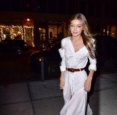 Gigi Hadid seen on the streets of Manhattan on November 15 2017 in New York City