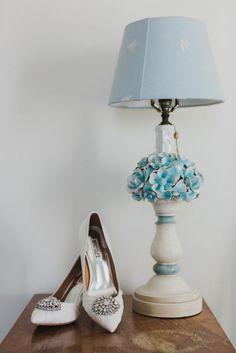 Badgley Mishka white wedding shoes