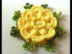 Flor para Caminho de Mesa em Crochê