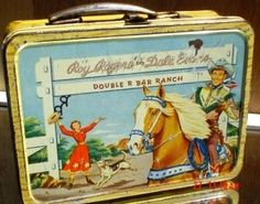 A Moveable Feast: The History of Early and Collectible American Lunchboxes - The next year American Thermos entered into an agreement with cowboy television stars Roy Rogers and Dale Evans, and used bright, full-color lithography on all sides of the box.