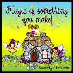 Magic is something you make! Dianne made THIS 'smile' with our Fairytale clip art collection :) #smiletoday fairy clip art, magic quote