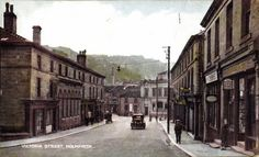 0128 Looking down Victoria Street Holmfirth in 1935.