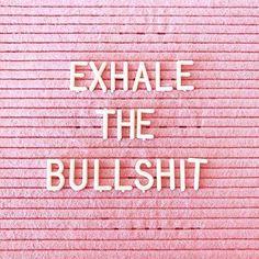 ⠀ Monday Motivation, inhale the good shit  ⠀ ⠀ ⠀ #namastehumble #exhalethebullshit ⠀ ⠀ ⠀  @fatmumslim via @cloverandlily7