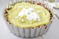 Happy St. Patty's Day! In the spirit of all things green, I created this wonderfully fresh and fulfilling dessert - key lime avocado tarts! I used the Key