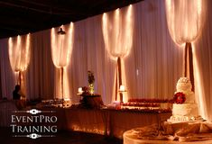 Wall Draping Ideas for a Wedding Reception