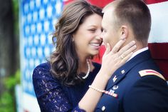 Patriotic Army engagement photos #military