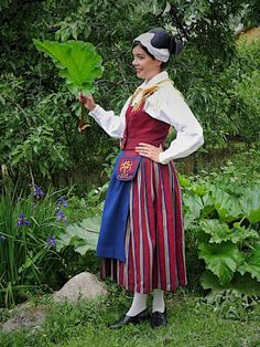 Folk Costume, Costumes, Folk Clothing, Traditional Outfits, Midi Skirt, High Waisted Skirt, Folklore, Finland, Roots