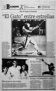 Debút de El Gato en el Juego de las Estrellas. Publicado el 12 de julio de 1988.