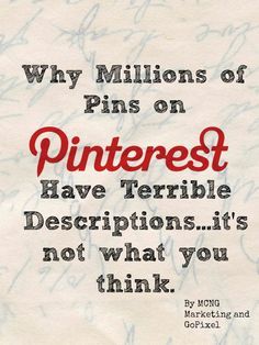 Do you ever wonder millions of pins on Pinterest have a bland and terrible description? Yes, some of it has to do with writing, but in many of those cases, it's because of the alt tag used in the photo. The Alt tag can mean the difference between getting one repin, and an additional thousand.