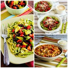 On Fridays we spotlight low-carb recipes you might want to try over the weekend, and this Friday I'm featuring Ten Amazing Low-Carb Recipes for Zucchini Noodles!Use theDiet-Type Indexto find more low-carb and gluten-free recipes like these. Click here to PIN Ten Amazing Low-Carb Recipes for Zucchini Noodles! It's still prime zucchini season, and I've shared…