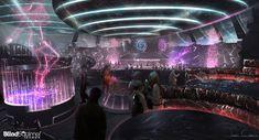Cyberpunk Bar by James chung Cyberpunk City, Arte Cyberpunk, Cyberpunk Aesthetic, Cyberpunk 2077, Futuristic Art, Futuristic Architecture, Science Fiction, Sci Fi Rpg, Sci Fi Environment