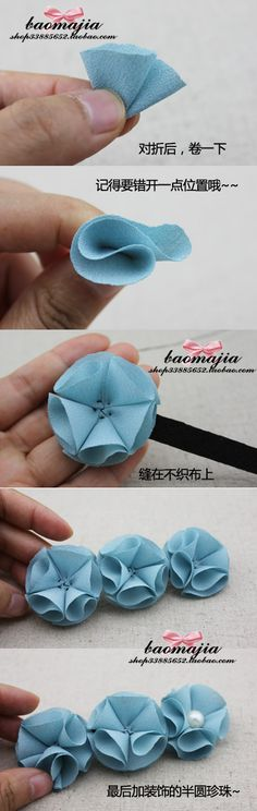 Take out some ribbon and start making some flowers for your hair pin...