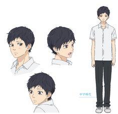 Blue Springs Ride, Anime People, Handsome Boys, Ghibli, Poses, Cute, Manga Drawing, Character, Cartoons