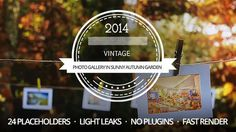 A Photo Gallery in Sunny Autumn Garden  Buy in on #videohive for only $27 - http://bit.ly/1sW2M9l