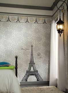 Eiffel tower photo wall mural!