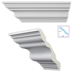 Heritage 8.5-inch Crown Molding (8 pack) - Overstock™ Shopping - Big Discounts on Molding