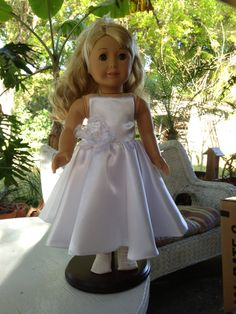 Confirmation Dress 18 American Girl Doll by LaurasBitsofLace, $50.00