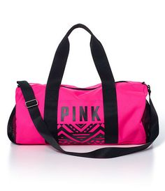New Victoria's Secret Pink Duffle Gym Bag Tote 2015 Pink VS (Color Hot Pink) in Duffel & Gym Bags | eBay